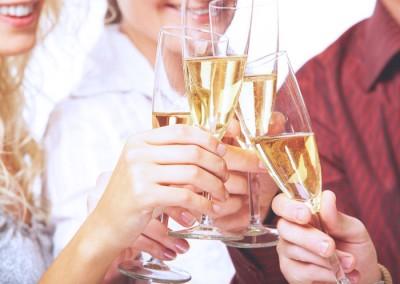 Ontspannen met een glas champagne